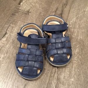 Naturino Navy Covered Toe Sandal